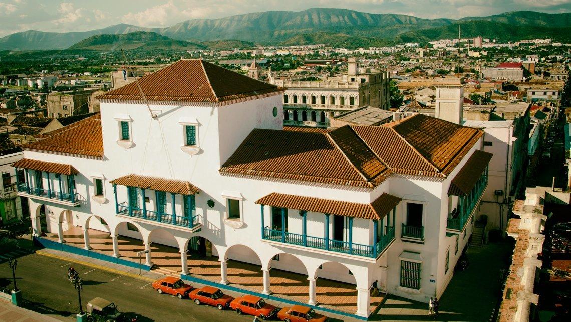 Vista arear del Palacio del Gobernador de Santiago de Cuba, antiguo ayuntamiento de la ciudad