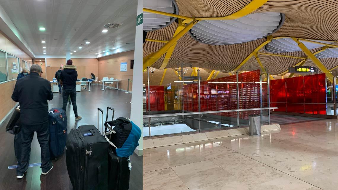 Test Covid-19 en el aeropuerto