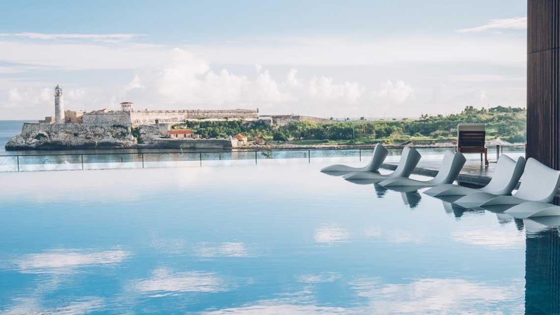 Hermosa vista al castillo del Morro desde el Hotel Packard