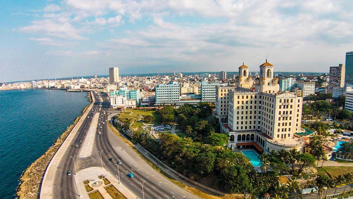 Vista aerea Jardines del Hotel Nacional
