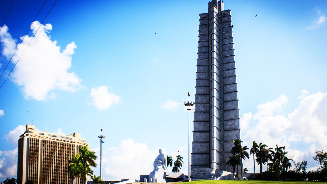 Plaza de la Revolución en el Veado